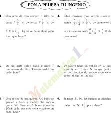 problemas razonados para cuarto grado problemas con fracciones en sexto de primaria 5 gif