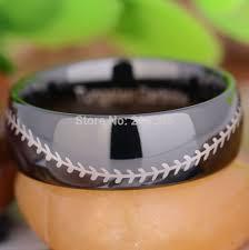 baseball wedding ring aliexpress buy free shipping usa hot sales e c tungsten