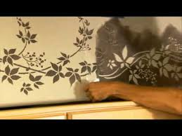 stencils how to stencil a kitchen border wall stencils by
