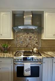 Glass Tiles For Backsplashes For Kitchens Brown Fantasy Leathered Quartzite Countertops With White Cabinets