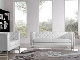 Leatherette SofaLoveseat PC Set With Metal Leg By Diamond Sofa - Chelsea leather sofa
