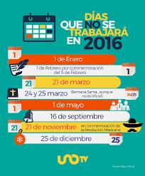 calendario imss 2016 das festivos entérate estos días no trabajarás en 2016
