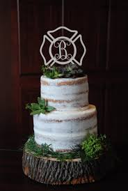 firefighter wedding cake topper personalized cake topper maltese cross fireman firefighter