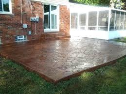 Backyard Cement Ideas Patio Patio Design Best Backyard Cement Ideas On Diy Cover With