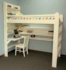 Desk With Bed by Loft Bed With Closet And Desk Cool Image Of Diy Wooden Loft Bed