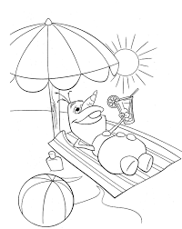 summer coloring pages and book uniquecoloringpages summertime