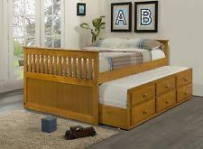 captains bed with trundle ebay