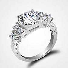 wedding rings white gold jacob alex ring 5 80 ct lab diamond white sapphire