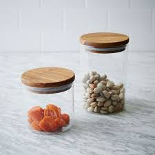 Glass Canisters Kitchen by Olive Wood Glass Canister West Elm