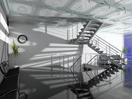 papier peint pour bureau papier peint la salle de bureau moderne intérieur avec des escaliers