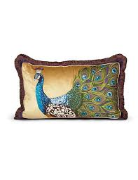 strongwater pillows strongwater peacock 16 x 26 pillow peacock jewelers
