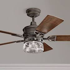 Kichler Ceiling Fans With Lights 52 Kichler Lyndon Patio Olde Bronze Outdoor Ceiling Fan 1h607