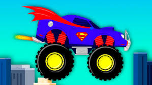monster truck cartoon videos superman car wash monster truck videos for children videos for