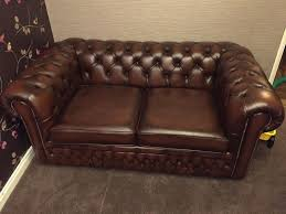 Brown Leather Sofa Bed Lovely Vintage Brown Leather Chesterfield 2 Seater Sofa Bed From