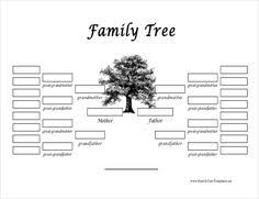 family tree template 26 free printable word excel pdf psd