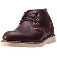 red wing 3141 classic mens brown leather casual chukka boots lace
