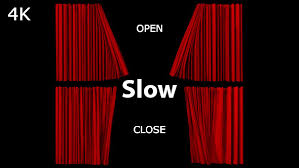 realistic red curtains opening closing slow by 3d videos videohive