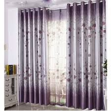 Cotton Curtains And Drapes Lilac Floral Poly And Cotton Curtains For Blackout Function Buy