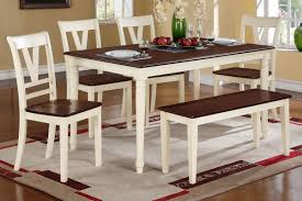 cherry dining room set dining table 4 dining chairs bench f2391 f1351 f1352 on a