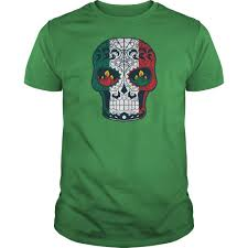 Colors Of The Mexican Flag Flag Colors Tattoo Sugar Skull Tshirt