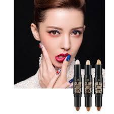qic portable double head makeup concealer pen highlighter