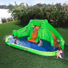 Water Slide Backyard Backyard Water Slide Inflatable Outdoor Furniture Design And Ideas