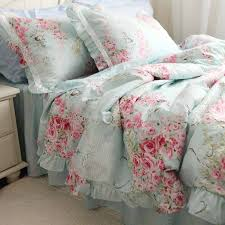 bedding and home decor blue rose bedding set