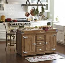 very functional mobile kitchen island with seating