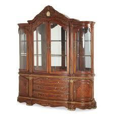 Michael Amini Dining Room Furniture Aico Michael Amini Cortina China Cabinet In Honey Walnut Finish