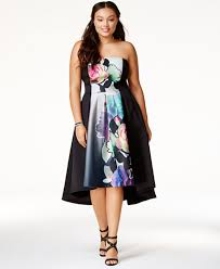 chic clothing city chic trendy plus size strapless high low dress dresses