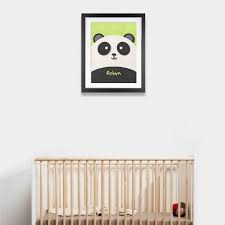 fuzzy felt kids name panda personalised wall art canvas wall fuzzy felt kids name panda personalised wall art
