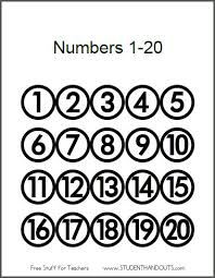 free printable number flashcards 1 20 best photos of printable numbers 1 20 free printable numbers 1 20