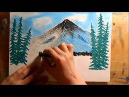 oil pastel mountain landscape youtube