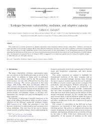 linkages between vulnerability resilience and adaptive capacity