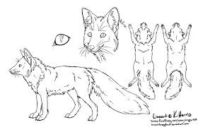 red fox ref sheet free use by krissyfawx on deviantart