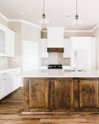 what is the best wood for white kitchen cabinets modern white rustic kitchen with stained island and