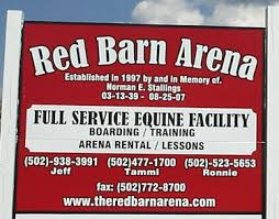 Red Barn Boarding Red Barn Arena Taylorsville Kentucky