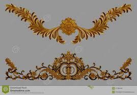 ornament elements vintage gold floral stock photo image 41785044