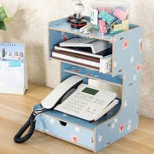 desk phone stand organizer wooden office desk organizer multi functional home office desk