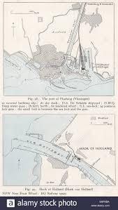 netherlands lighthouse map netherlands flushing vissingen hoek hook ww2 stock