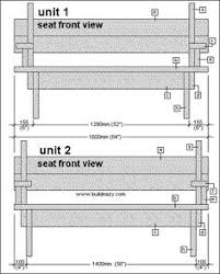 picnic table and bench seat combination section plans furniture