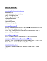 list of good phonic websites by beckyhazel teaching resources tes