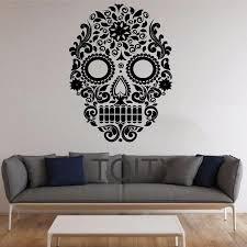 skull wall stickers mexican art vinyl decals home interior decor sugar skull wall stickers mexican art vinyl decals home interior decor design teen living room bedroom murals