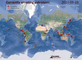 Amelia Island Map Volcanic Activity Worldwide 23 Sep 2017 Karymsky Volcano Dukono