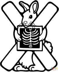 letter x is for x ray coloring page free printable coloring pages