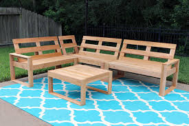 Wood Patio Furniture Plans Free by Free Diy Outdoor Sofa Plans Gray House Studio