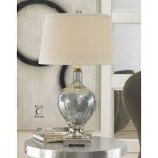 Livingroom Table Lamps by Lighting Studio Bull Nose Cylinder Table Lamp In Mercury Glass
