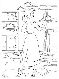 princess cinderlla colouring pages cinderella dress mice coloring