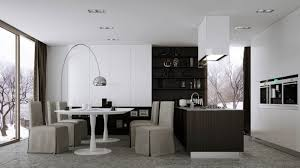 Curved Floor Lamp Small Contemporary Dining Room Placed Near Kitchen With Curved