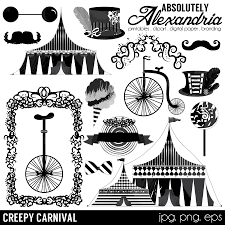 spooky clip art creepy carnival digital clipart personal u0026 commercial use